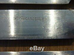 12 Former Meat Knives In Silver Cardeilhac