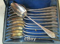 12 Former Small Silver Spoons Punch Neck Brace 19th Nap III Ecrin