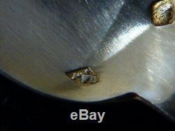 12 Former Teaspoons Mocha Coffee Solid Silver Brace H 11.5 CM