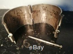 186gr Old Bracelet Berber Solid Silver / Kabyle-old Ethnic Jewelery