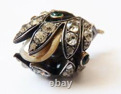 18k Gold Pendant - Solid Silver - Crystal - Old-fashioned Pearl Jewel