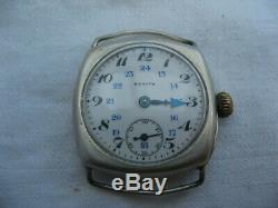 2953 Swiss Watch Zenith Old Solid Silver Punch