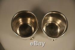 2 Timpani Russian Old Russian Antique Sterling Silver Goblets 1896
