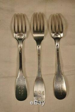 3 Forks Convent Cross Religious Sterling Silver Antique Solid Silver