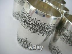 608gr Silver Cambodia Indochina Shaker Cups Former Service Cocktail