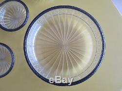 A Former Service Dessert Crystal St. Louis Or Baccarat Sterling Silver