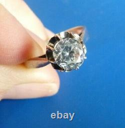 Ancient Ancient Jewel Old Jewel Ring Ring Solitaire Diamond Pierre Du Rhin
