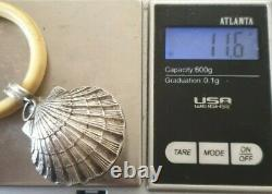 Ancient And Rare Baby Shock Shell Shape Silver Massif