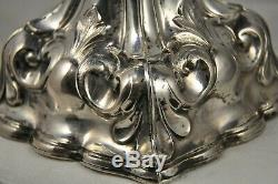 Ancient Crystal Cup Sterling Silver XIX Antique Solid Silver Bowl
