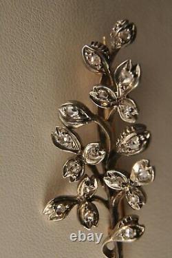 Ancient Gold Gold Diamond 18k Silver Ancient Diamonds Gold Silver Diamond Brooch