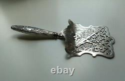 Ancient Shovel Has Asparagus Art New Solid Silver Punch Minerve Floral Decoration
