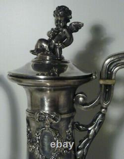 Ancient Silver Teapot Massive 992 Grams