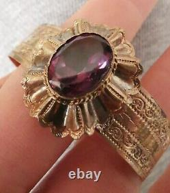 Ancient Sised Bracelet Vermeil Napoleon III With Amethyst Small Size