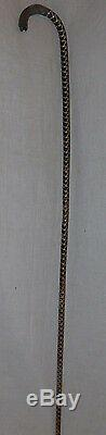 Ancient Snake Cane And Silver Head (with Lacquer In The Vertebrae)