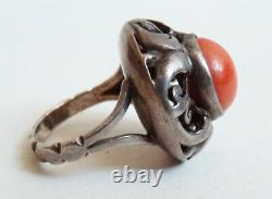 Ancient Solid Silver Ring And Coral Silver Ring Coral Ancient Jewel