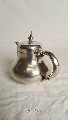 Ancient Verseuse Selfish Teapot In Silver Massive Minerus Punch 19th 172gr