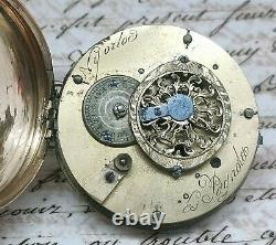 Ancient Watch Gosset Au Coq Spain Picada Cadiz 1818 Works Old Watch