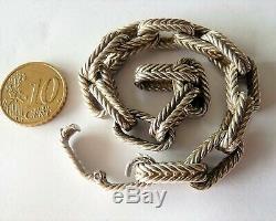 Antique Art Deco Solid Silver Sterling Bracelet In Sterling Silver Minerve Old