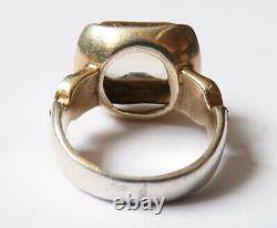 Antique Ring In Solid Silver And Silver Citrine Silver Ring Antique Jewel
