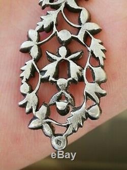 Antique Sterling Silver And Marcasite Earrings