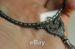 Antique Sterling Silver Loupe Floral Decor And Coat Of Arms