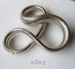 Antique Vintage Solid Silver Snake Necklace Old Sterling Silver Snake Necklace