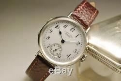 Antique Watch A Lange & Söhne 36mm Silver Silver 1910 Vintage Watch