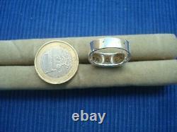 B24 Ring Tank Art Deco Ancient Silver Massive Wild Boar True Diamond 0.15ct Jewel