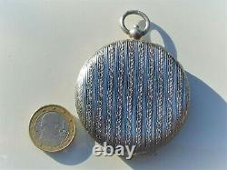 Beau Porte Louis D'or 10f And 20f Ancien 1900 In Argent 800 / Diameter 5.6cm