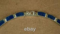 Beautiful Ancient Necklace In Massive Silver And Lapis Lazuli