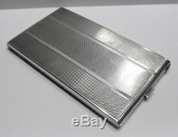Beautiful And Old Cigarettes Case In Sterling Silver Nineteenth Hallmark Minerva