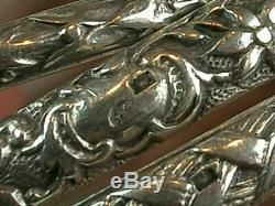 Beautiful Bracelet Weekly Old Silver Massif 7 Reeds