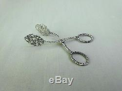 Beautiful Clamp Or Shoe With Old Garden Or Mignardized In Silver Solid Punches