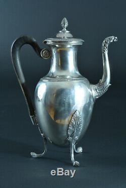Beautiful Old Coffee Jug Silver Minerva Boulenger Empire Style