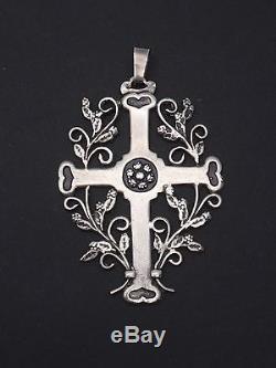Beautiful Old Cross Jeannette Openwork In Sterling Silver