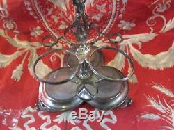 Beautiful Old Vinegar Cruet Xixe Mount Massive Silver Punch Neck Brace