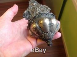 Benitier Old Silver 800 Virgin Child Putti