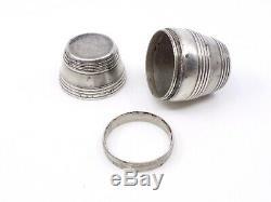 Box Nutmeg Ancient Solid Silver Form Barrel Nineteenth Nutmeg Grater