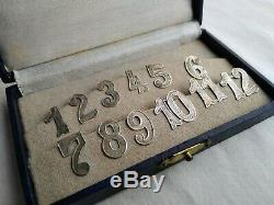 Box Old Silver Door Numbers Up