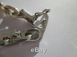 Bracelet Large Mesh Former Convict Solid 925 Sterling Silver 24g
