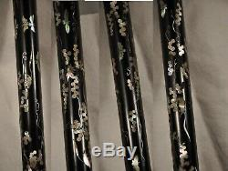 Cane Ancient Chinese Nacre Sterling Silver Antique Chinese Walking Cane Stick