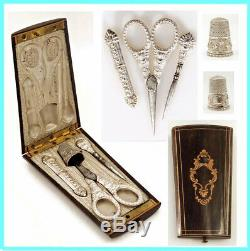 Case Box Set Needle Set Of Sewing Old Sew Xixth Silver Silver
