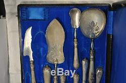Cutlery Service Old Antique Solid Silver Sterling Silver Serving Silverware