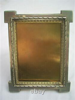 Door Photo Frame Old And Sterling Silver Gilt Minerve Punch 465 Grams