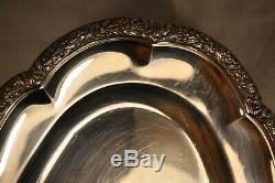 Flat Old Sterling Silver MB Boulenger Antique Solid Silver Fish Dish 995gr