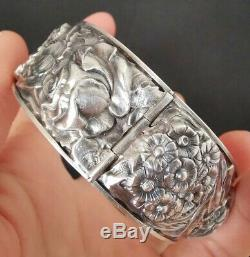 Former 19th Bracelet In Sterling Silver, Art Nouveau