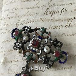 Former Austro Hungarian Jewel Brooch Neo Renaissance XIX Hungarian Jewel 19thc