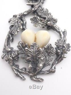 Former Big Pendant Silver Venerie Hunting Trophy Deer Teeth