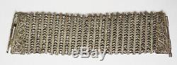 Former Bracelet In Silver Filigree Cuff Silver Bracelet 65 Gr