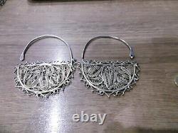 Former Ethnic Massive Silver Earrings Watermark Kabyle Berbere